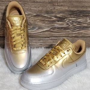 New Nike Air Force 1 LX Metallic Sneakers